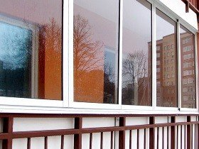 Пример остекление балкона окна