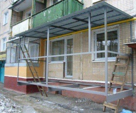 Строительство балкона первый этап