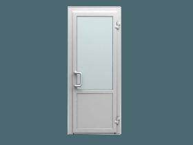 Цена на пластиковые входные двери одностворчатая