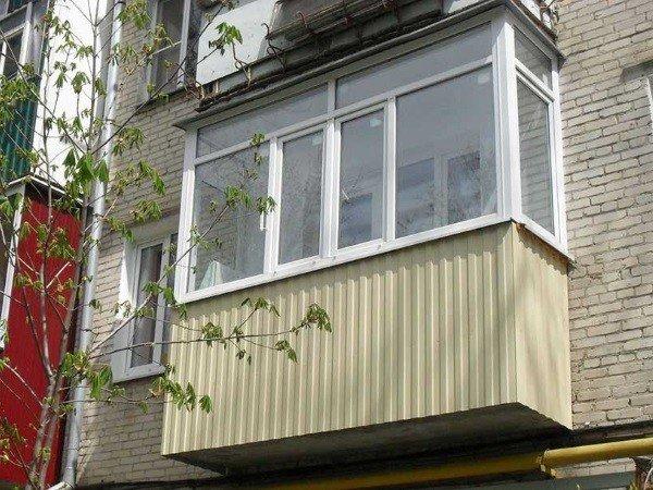 внешняя отделка балкона профлист