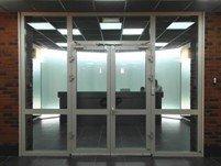 Дверь входная ПВХ с перемычкой