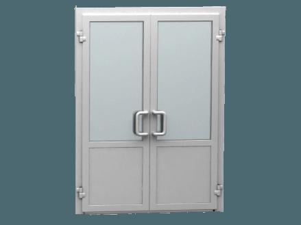 Двери ПВХ двустворчатые