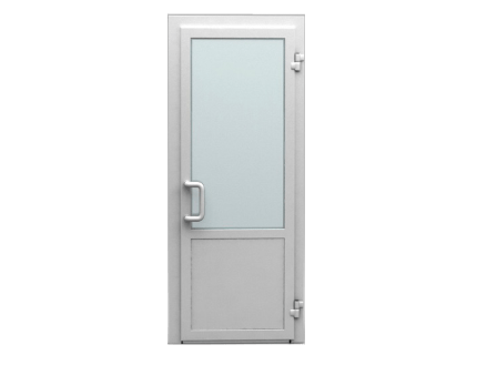 Входные двери ПВХ одностворчатые