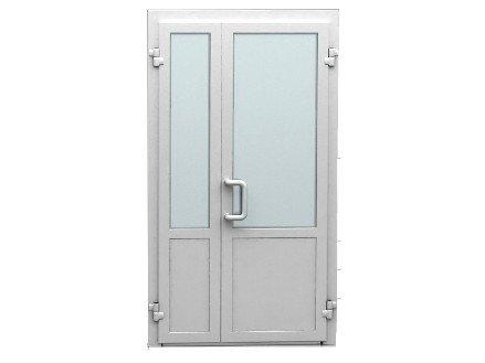 Входные двери ПВХ штульповые