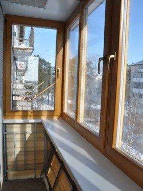 Вынос окна при застеклении балконов