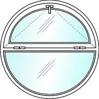 Распашное круглое окно