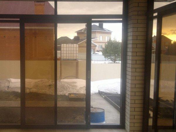 Раздвижные алюминиевые двери стандарт