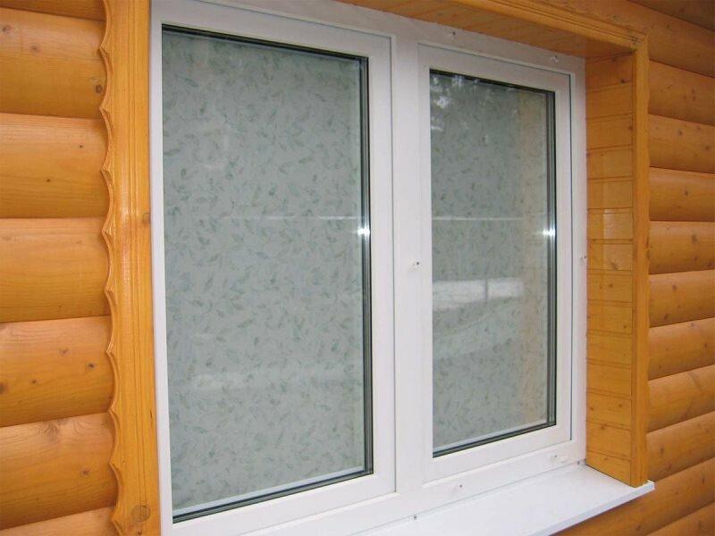 3 окна ПВХ в деревянный дом