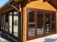 Остекление веранд и террас деревянного дома
