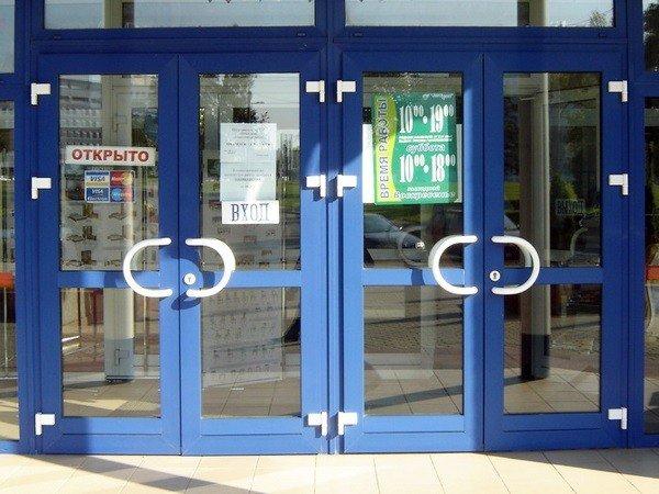 Двери для магазина пластиковые