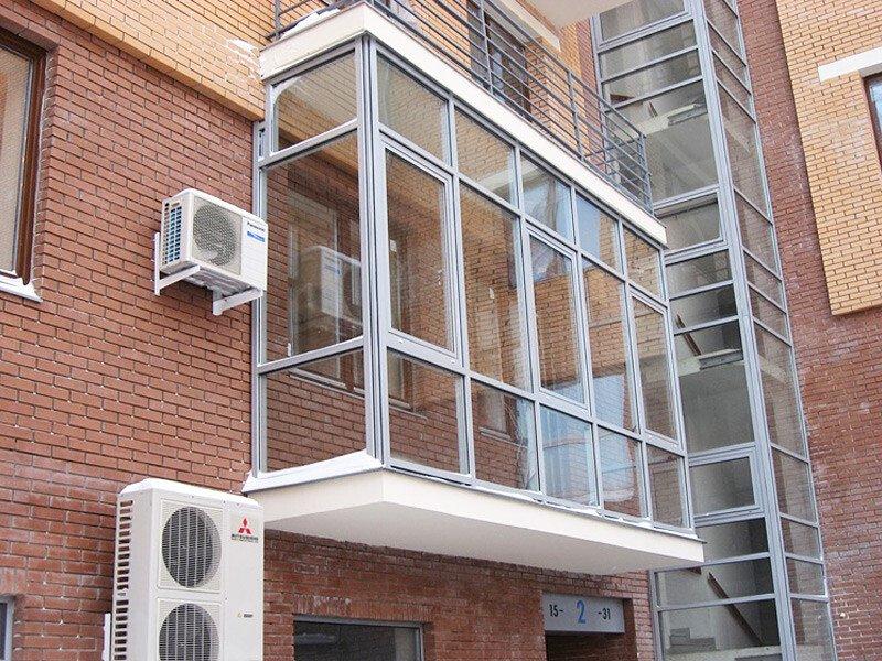Остекление балкона под ключ по цене производителя