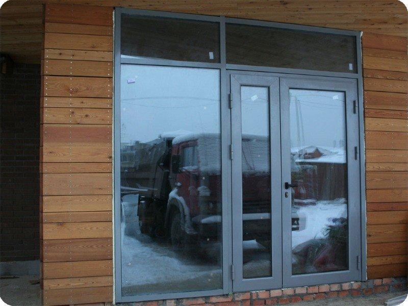 двери входные из алюминиевого профиля от производителя