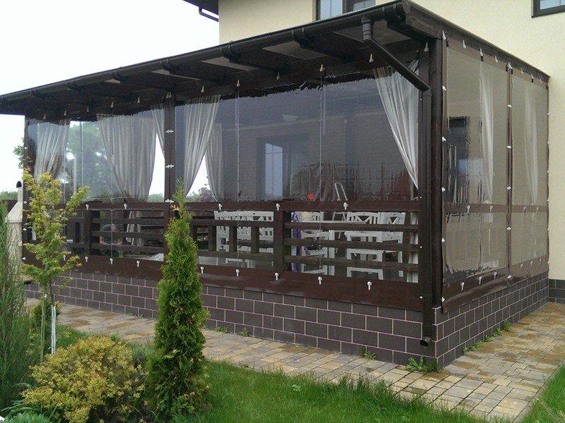 Мягкие шторы для веранды