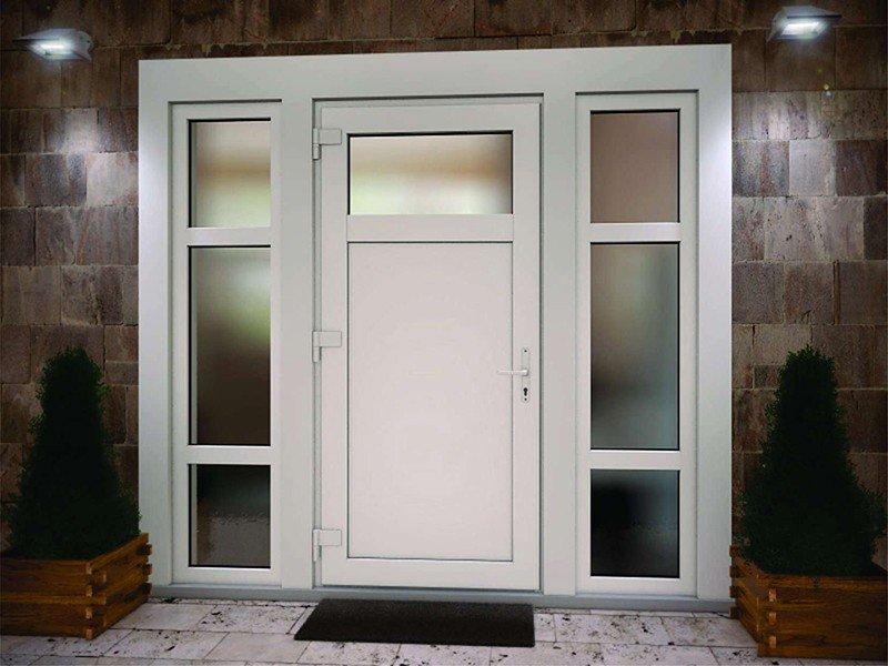 двери входные из алюминиевого профиля под ключ-эконом