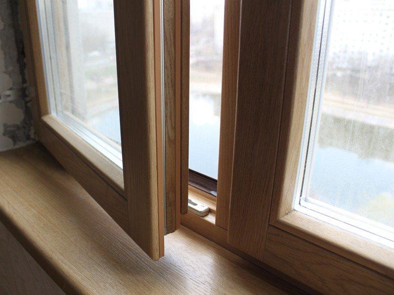 остекление деревянными окнами премиум