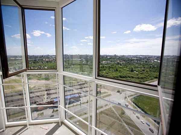 Панорамные окна алюминиевые