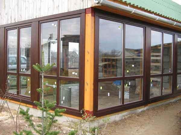 Панорамные окна деревянные